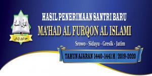 Hasil PSB Ma'had Al-Furqon Tahun Ajaran 1440 – 1441