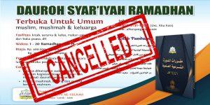 [UPDATE] DAUROH SYAR'IYAH RAMADHAN