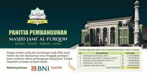 Laporan Donasi Wakaf Pembangunan Masjid Jami' Al-Furqon [Periode Pebruari-Juli 2020]